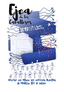 El cartel de Fiestas en honor de la Virgen de la Oliva 2019, obra de la ejeana Laura Ruiz Chóliz