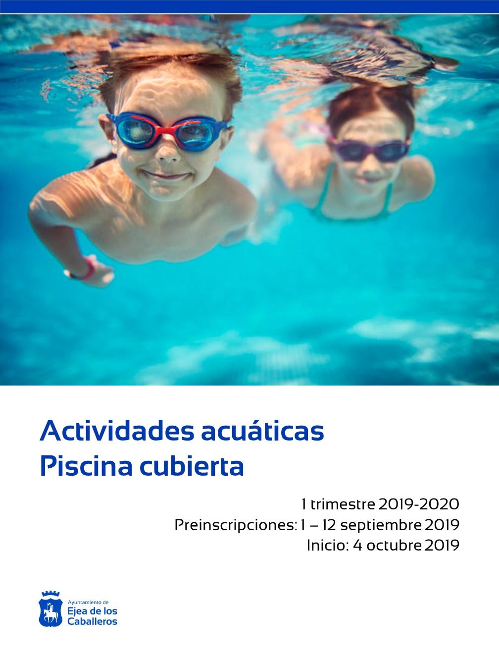 Comienza el plazo de preinscripción de las actividades acuáticas de la piscina cubierta