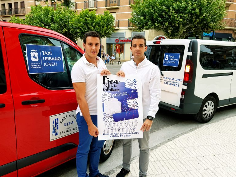 Un servicio de taxi joven, urbano y nocturno, funcionará durante las fiestas de Ejea como experiencia piloto