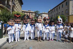 Rutas comparsa de cabezudos durante las Fiestas de Ejea