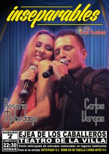 """Venta anticipada de  entradas del concierto """"Inseparables""""  de Rosario Mohedano y Carlos Vargas"""