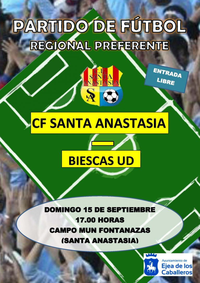 Partido Fútbol CF Santa Anastasia- Biescas UD