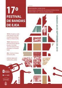 CARTEL FESTIVAL DE BANDAS EJEA 28-09-19