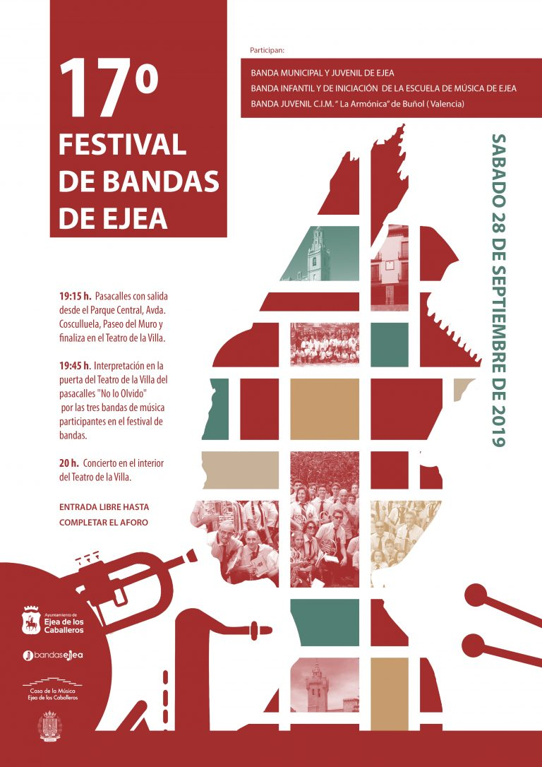 17º Festival de Bandas de Ejea: Encuentro cultural y humano de la Banda Juvenil de Buñol y las Bandas Infantil, Juvenil y Municipal de Ejea
