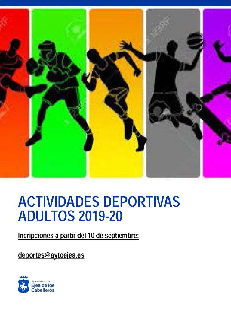 Actividades deportivas municipales para adultos 2019-2020
