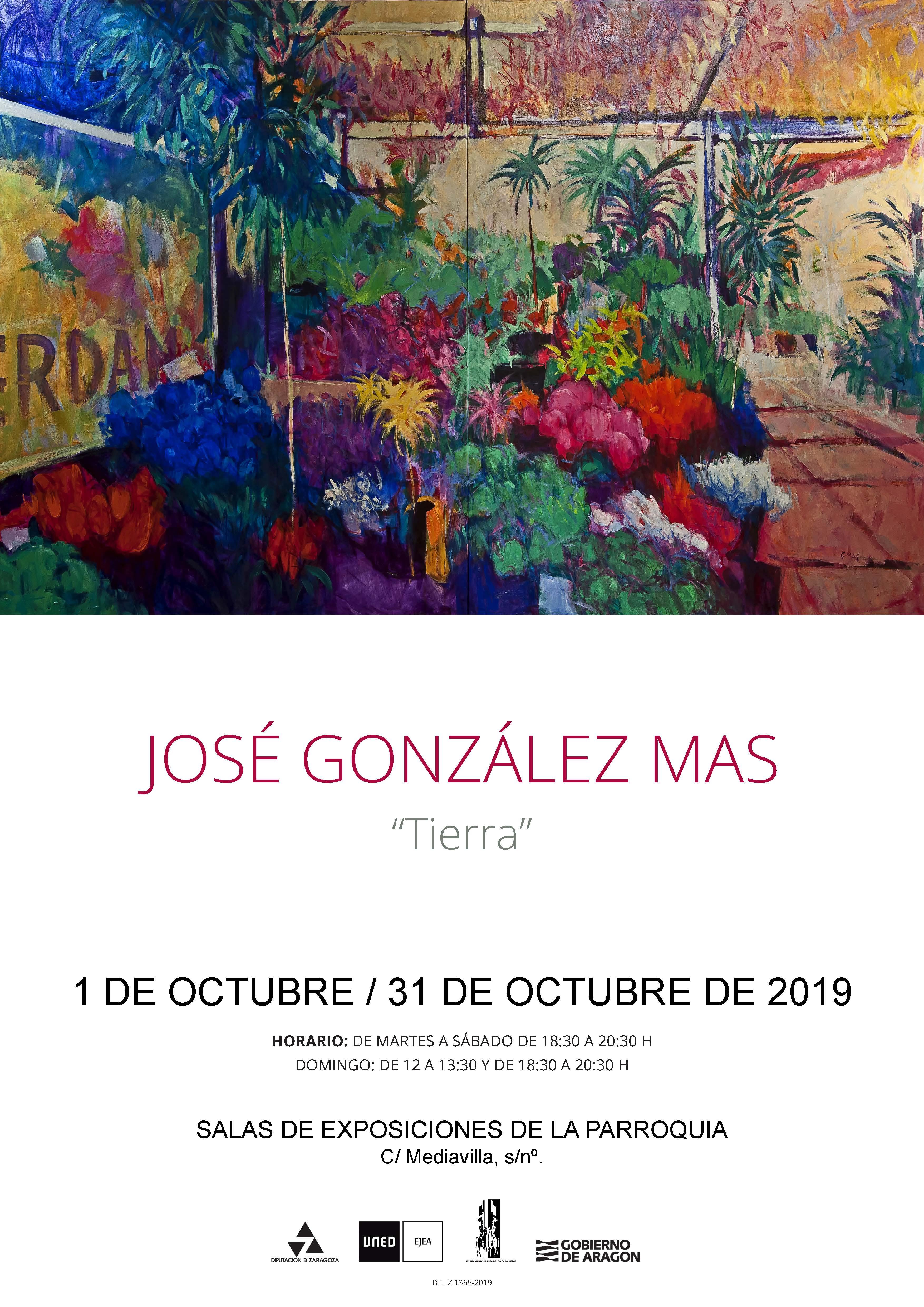 Inauguración de la exposición «Tierra» del artista José González Más, dentro del programa conmemorativo del 10º aniversario del Aula  UNED en Ejea