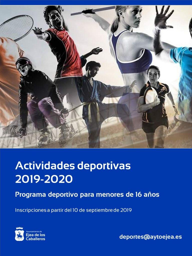 Actividades Deportivas Municipales 2019-2020 para menores de 16 años