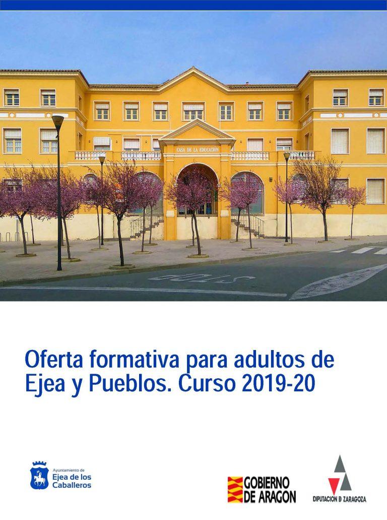 Oferta formativa para personas adultas de Ejea y Pueblos. Curso 2019-20
