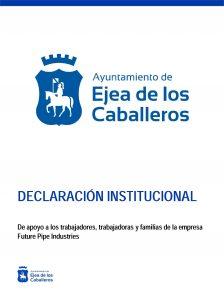 Declaración Institucional de apoyo a los trabajadores, trabajadoras y sus familias de la empresa Future Pipe Industries