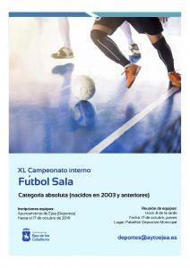Abierto el plazo de inscripción para el Campeonato Local de Fútbol Sala