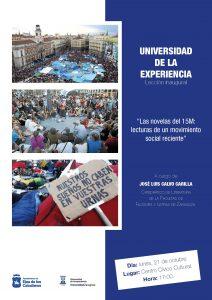 Lección Inaugural del Curso 2019-20 de la Universidad de la Experiencia: » Las novelas del 15M: lecturas de un movimiento social reciente»