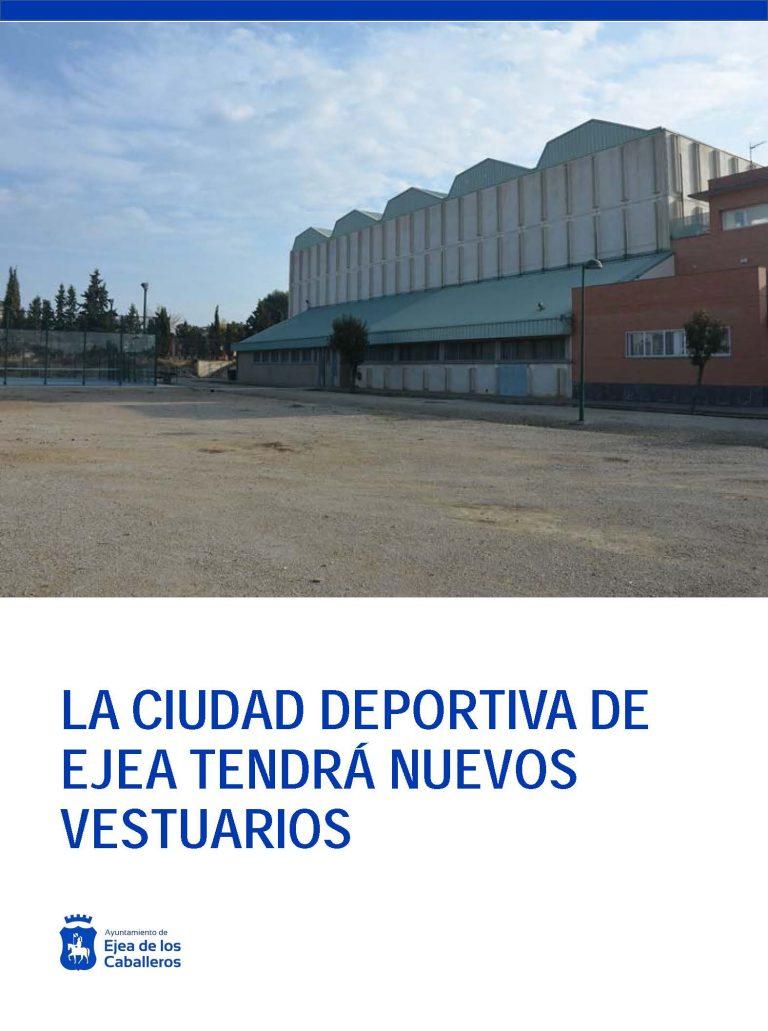 La Ciudad Deportiva de Ejea tendrá nuevos vestuarios