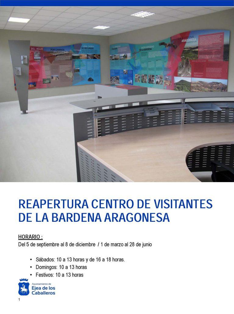 El Centro de Visitantes de la Bardena Aragonesa, en Valareña, reabre sus puertas