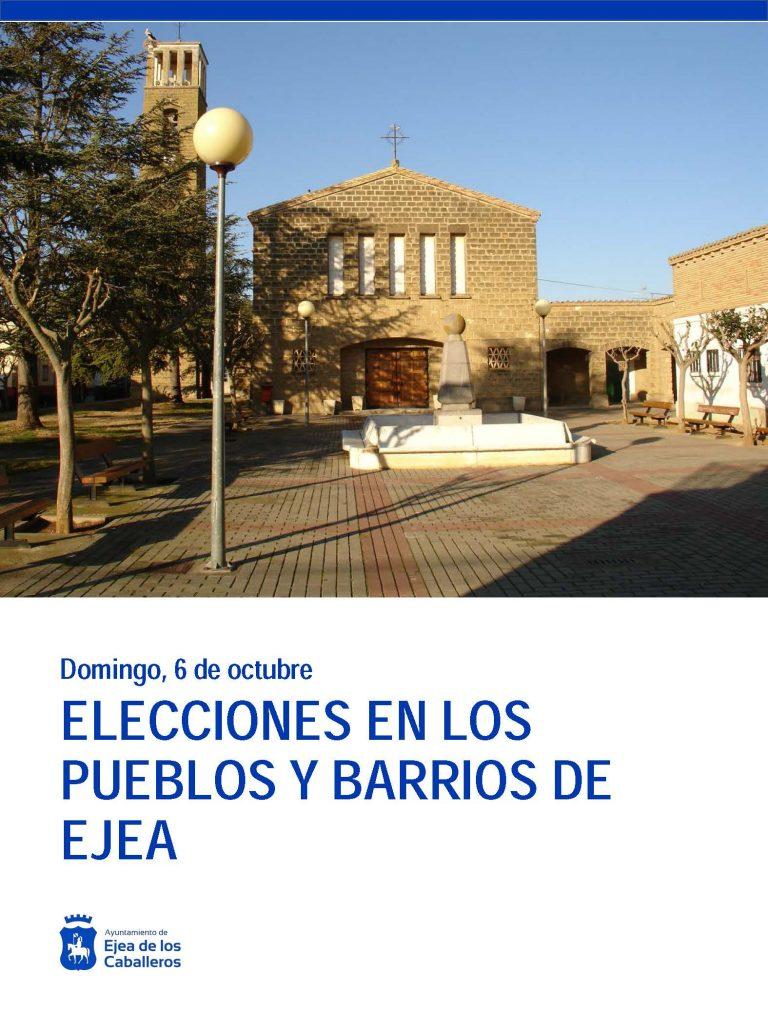 Los vecinos de los Pueblos de Ejea eligen a sus Juntas Vecinales