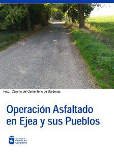 Renovación del asfaltado en 25 calles de Ejea y Pueblos