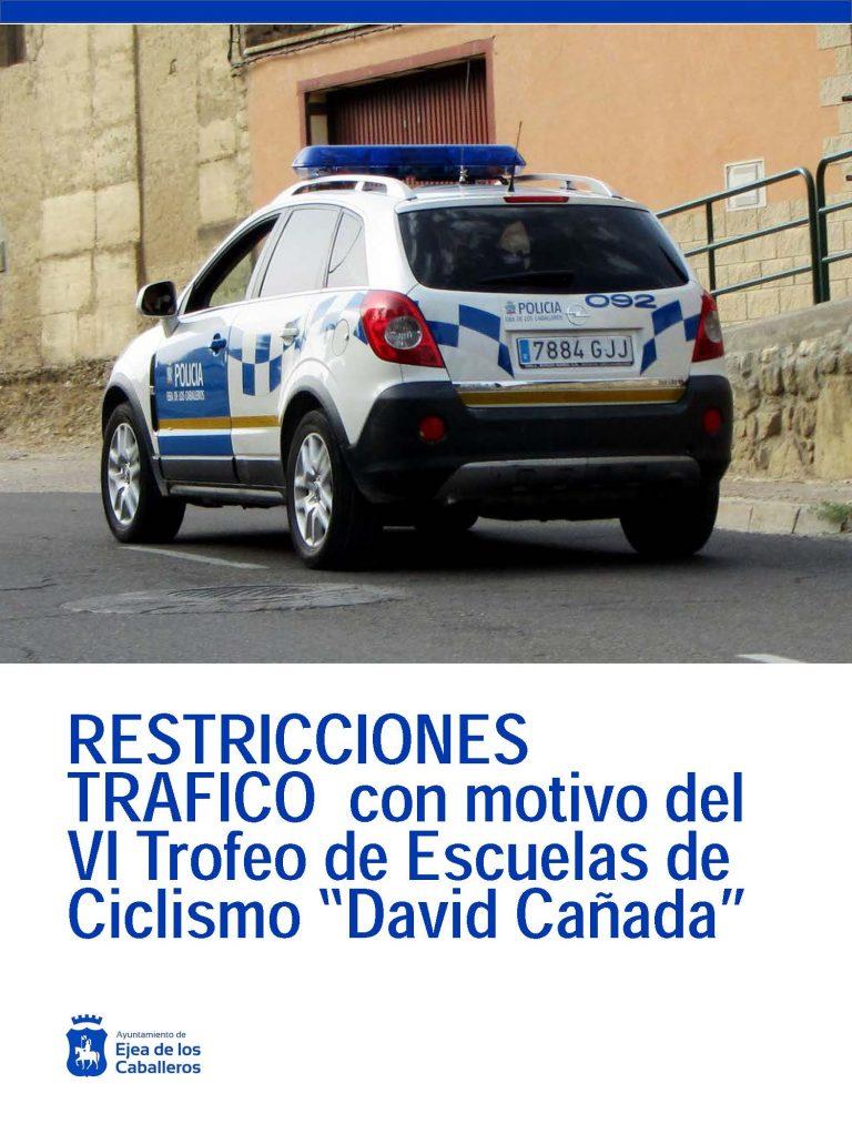 Restricciones tráfico con motivo del IV Trofeo Escuelas de Ciclismo «David Cañada»