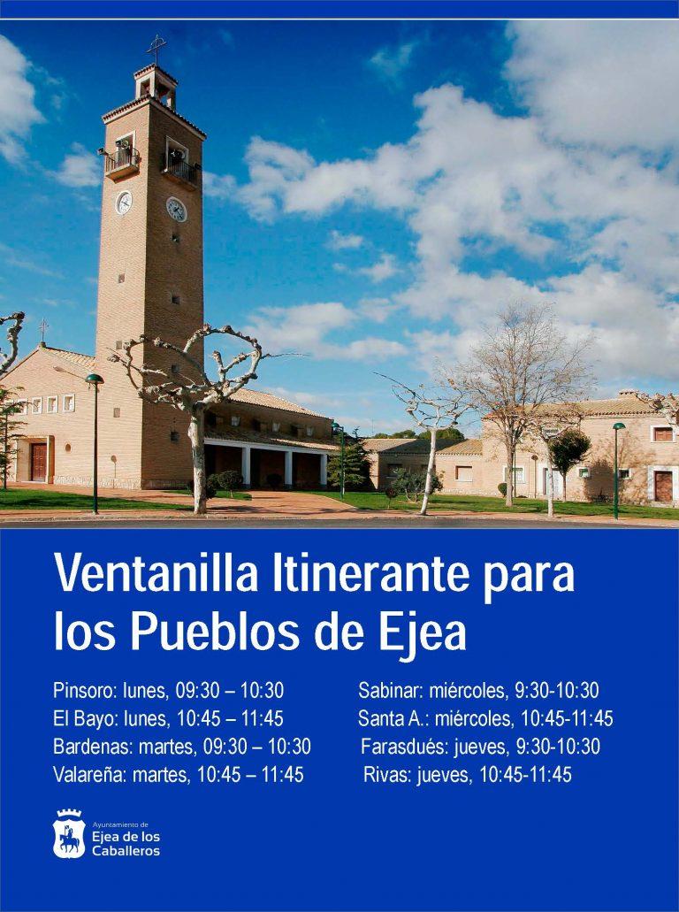 Impulso a la Ventanilla Itinerante para acercar el Ayuntamiento a los Pueblos de Ejea