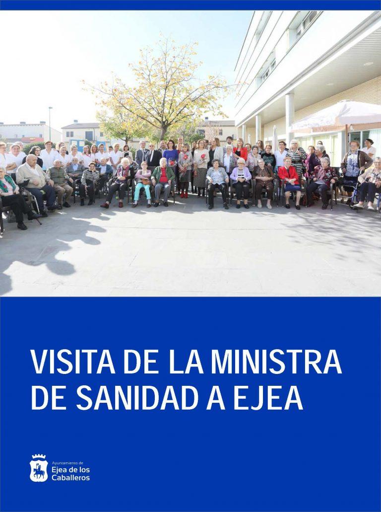 La Ministra de Sanidad visita Ejea para conocer varios servicios de asistencia sanitaria de la localidad