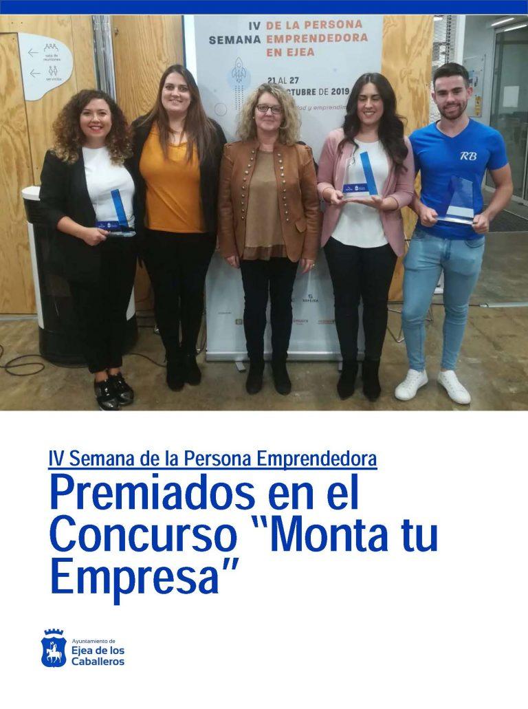 """Idea Comunicación, Delisa y RB Fit Nutrición, Premios """"Monta tu Empresa 2019"""""""
