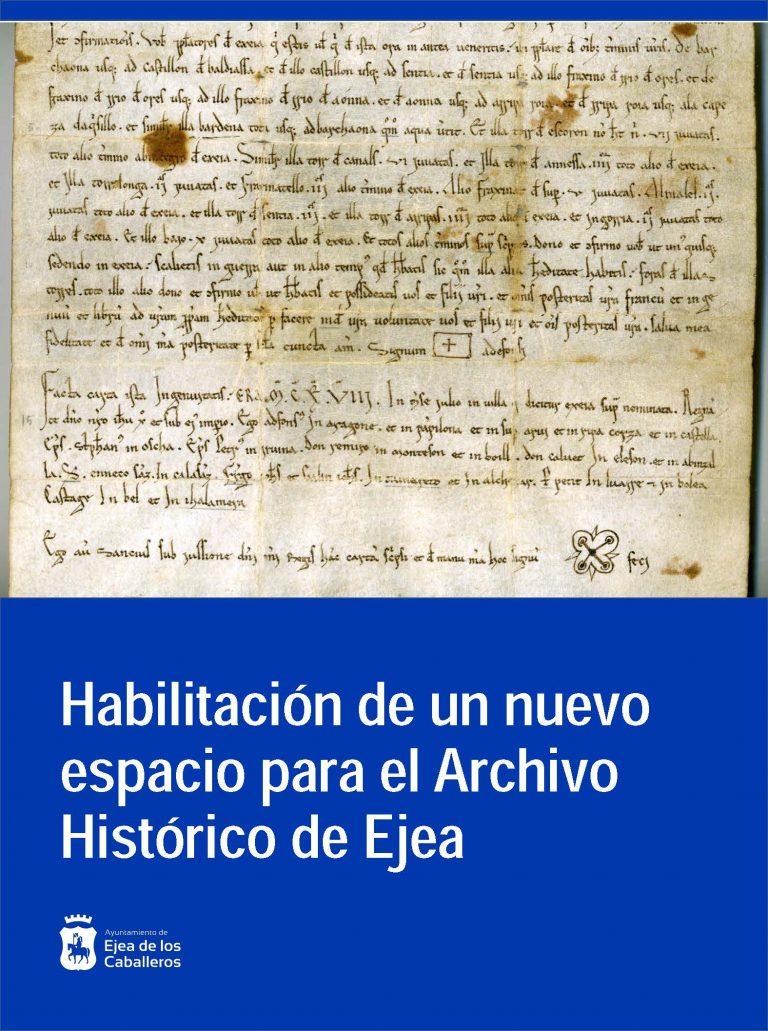 Habilitación del espacio Archivo Histórico de Ejea