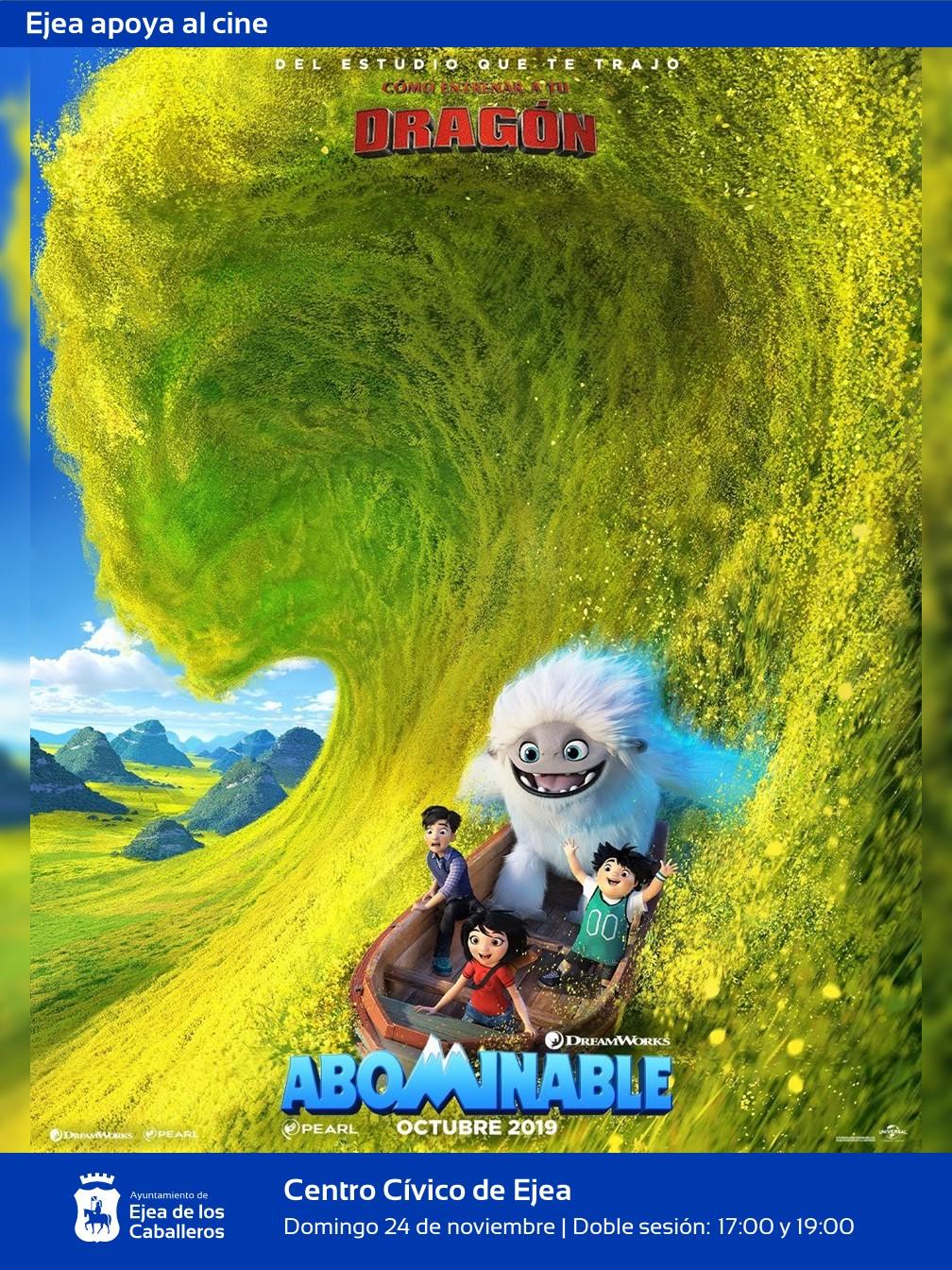 Ejea apoya el Cine: «ABOMINABLE», una simpática película de monstruos para la tarde del domingo