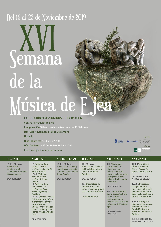 Para celebrar la música y Santa Cecilia, llega la XVI Semana de la Música de Ejea