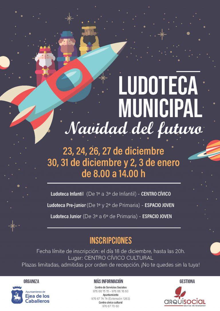 La Ludoteca Municipal de Ejea abrirá sus puertas estas Navidades durante los días no lectivos