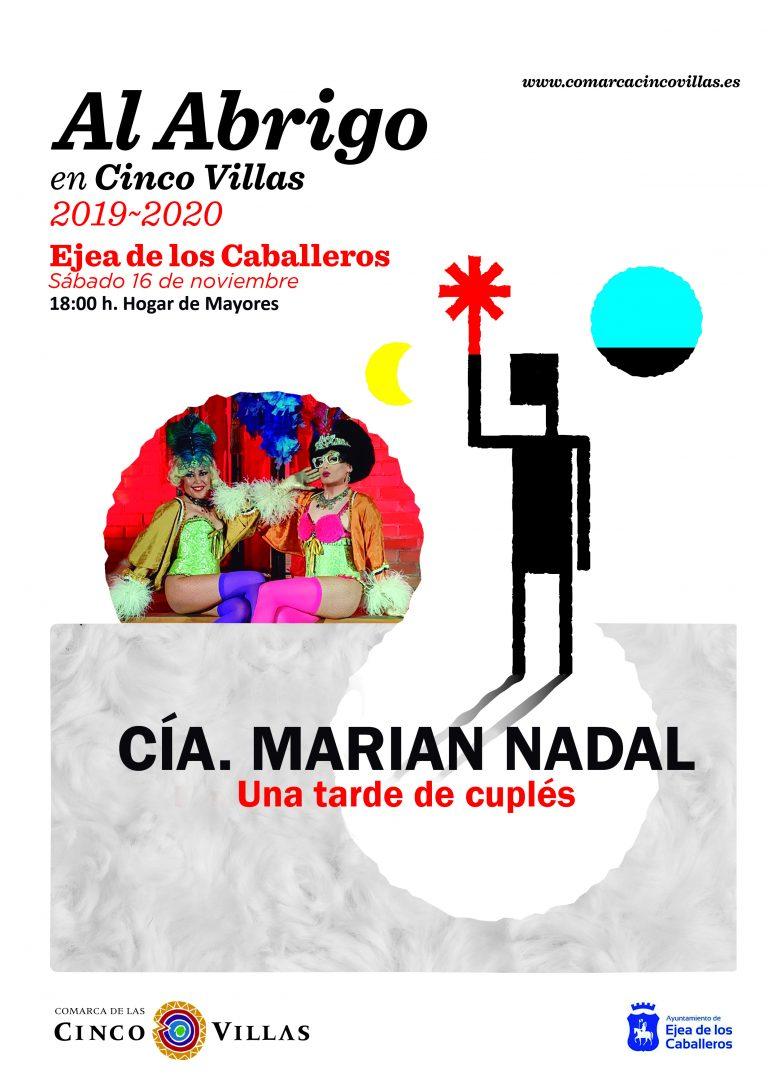 El programa «Al Abrigo» de la Comarca trae a Ejea el concierto de Cuplé de la compañía de Marián Nadal