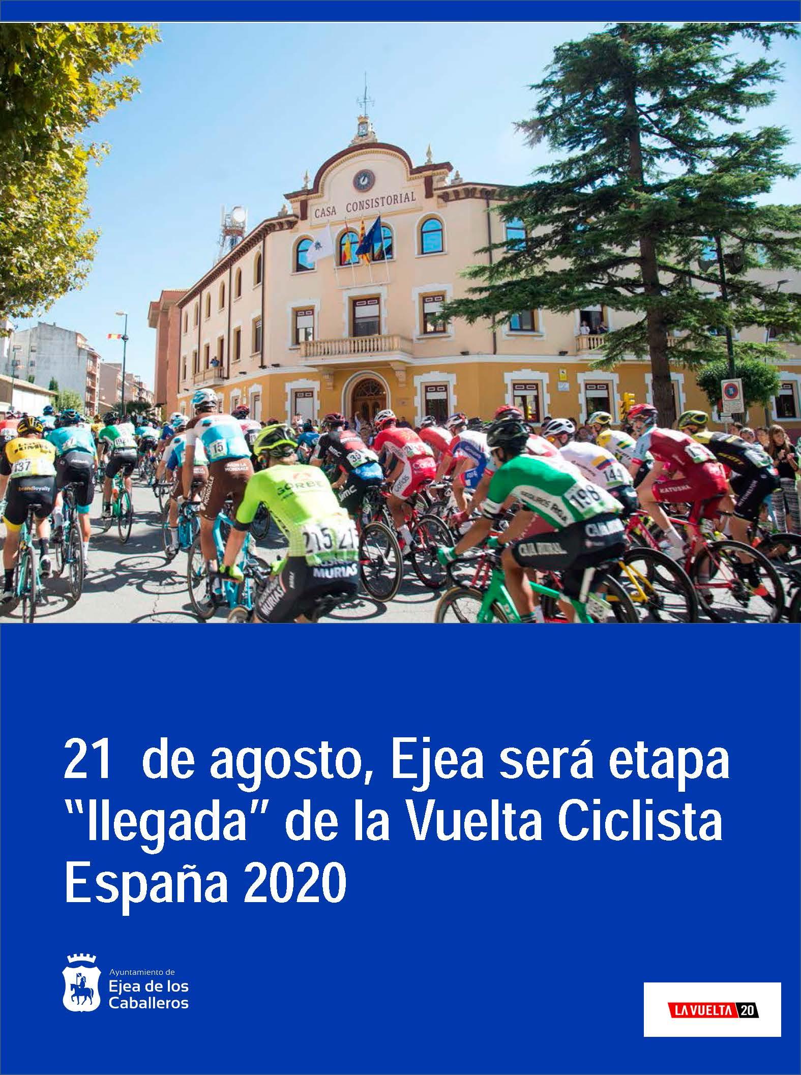 Ejea será etapa de «llegada» de la Vuelta Ciclista a España 2020
