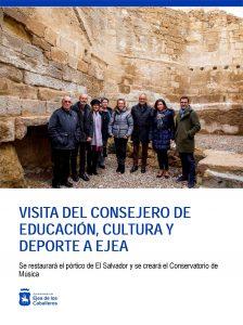 El Consejero de Educación anuncia  la restauración del pórtico del Salvador y la creación del  Conservatorio de Música