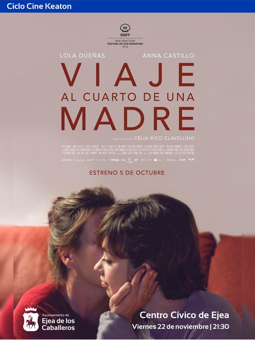 """Ciclo de cine Keaton: """"VIAJE AL CUARTO DE UNA MADRE"""", un delicado retrato del amor maternofilial"""