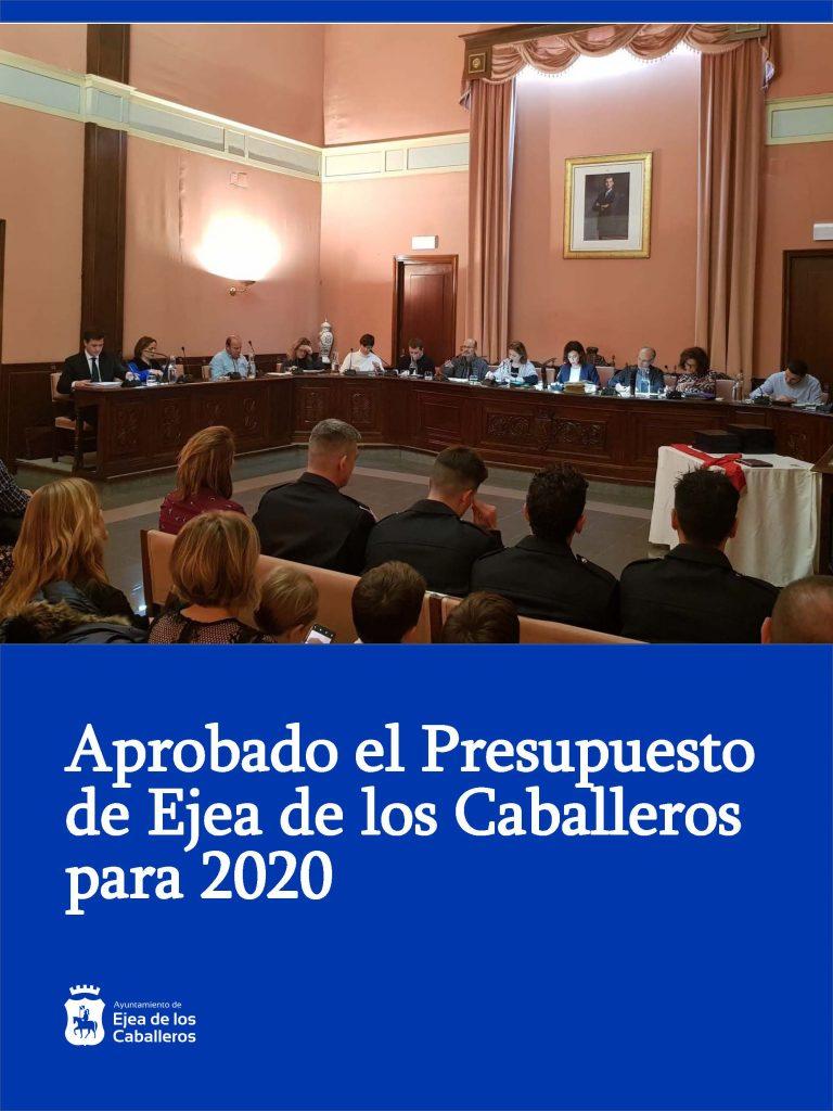 El Ayuntamiento de Ejea aprueba un presupuesto de 18.397.957 € para el año 2020