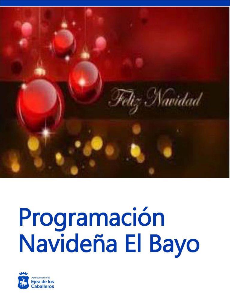 Programa Navidad 2019-2020 en El Bayo