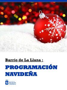Programación navideña en el Barrio de La Llana