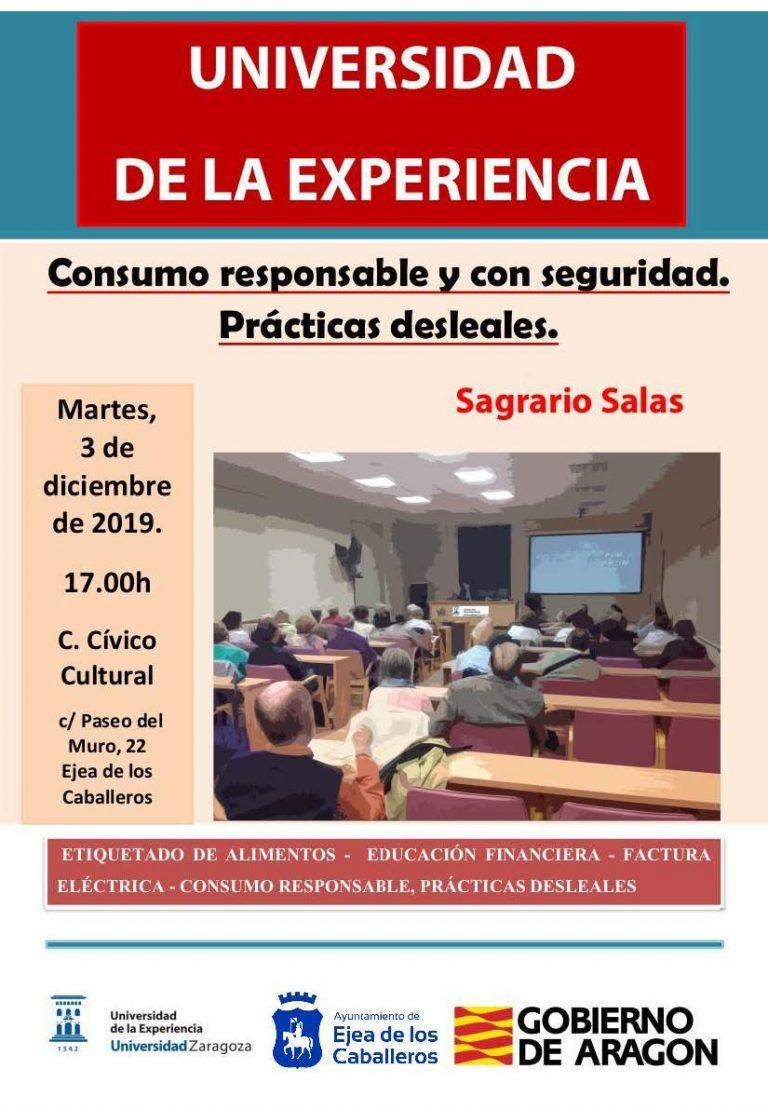 """Consumo Responsable y con Seguridad. Prácticas Desleales"""": Conferenica de la UEZ abierta a toda la ciudadanía"""