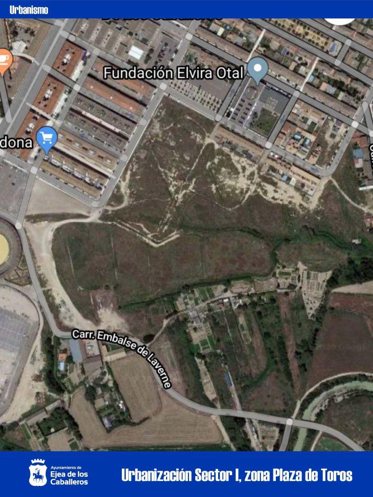 Empiezan las obras de urbanización del Sector I, zona de la Plaza de Toros en Ejea
