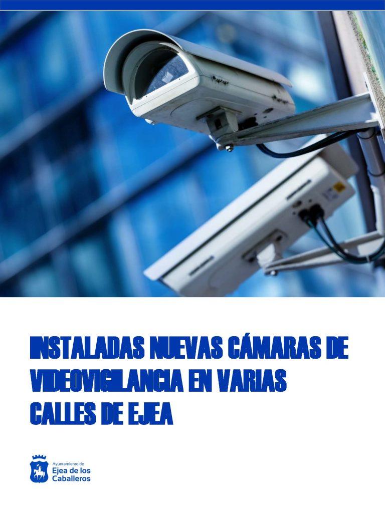 Implantación de nuevas cámaras de viodeovigilancia en el casco urbano de Ejea de los Caballeros