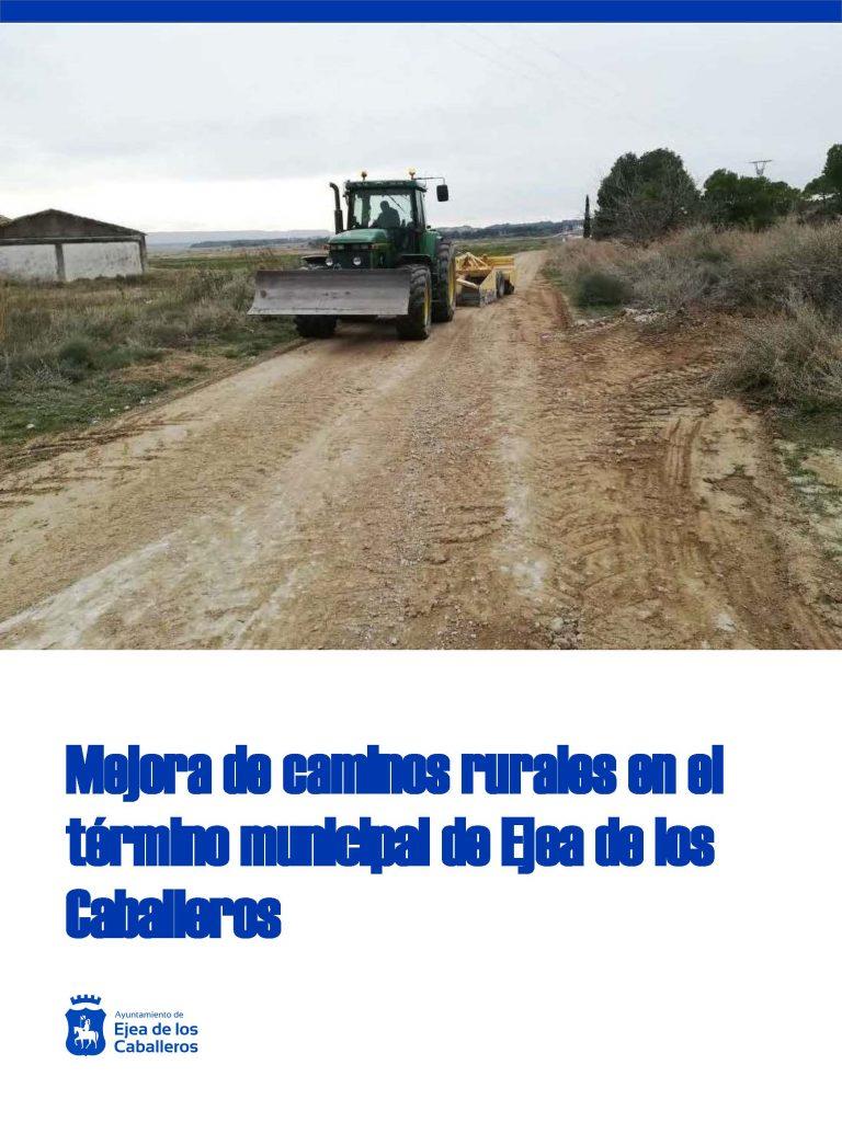 Adjudicadas obras de mejora en caminos rurales de Ejea
