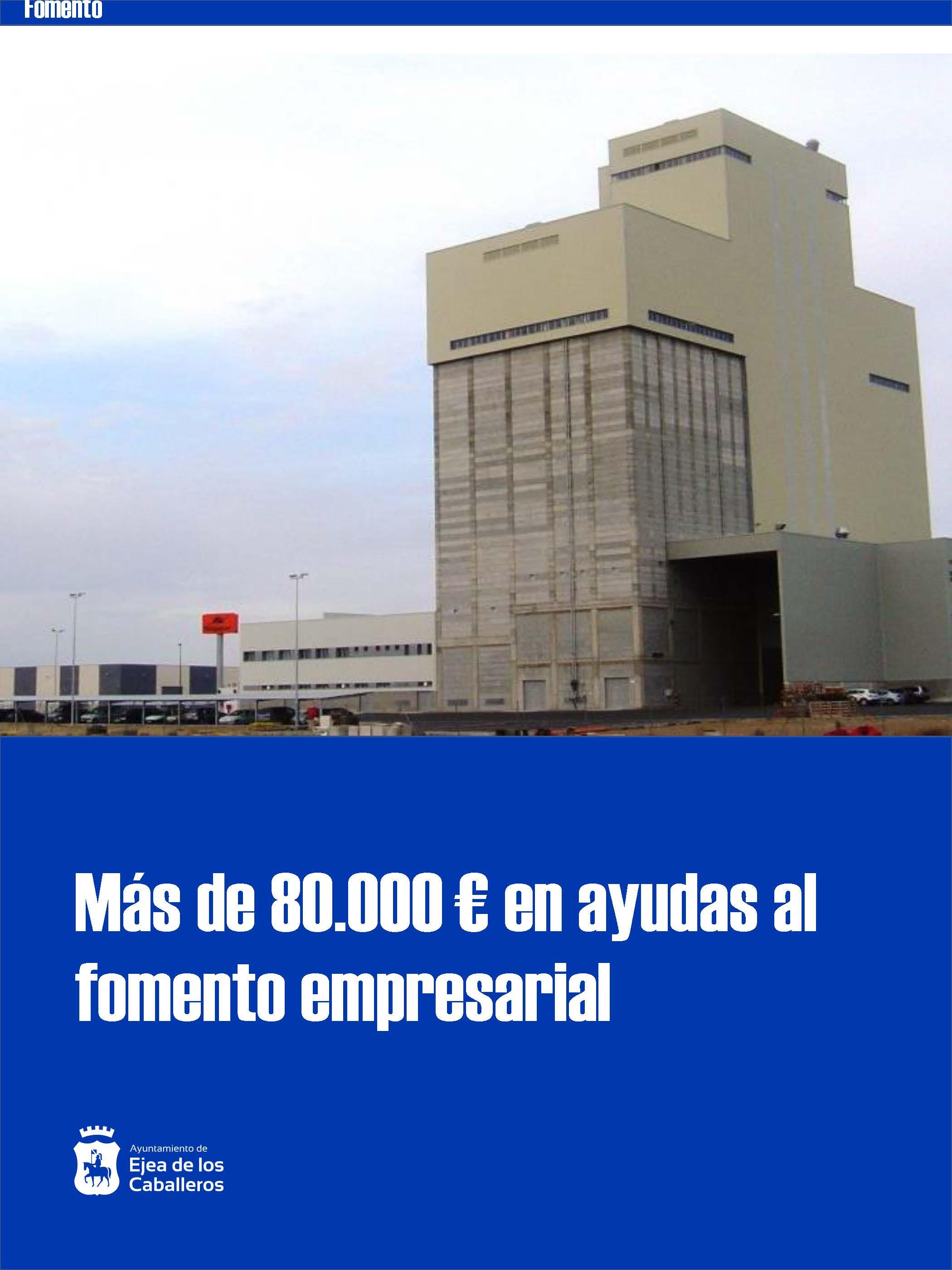 En 2019, el Ayuntamiento de Ejea concedió 80.000 euros en ayudas al fomento de la actividad económica y el empleo
