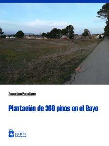 Plantación de 360 pinos Carrascos en el antiguo punto limpio de El Bayo