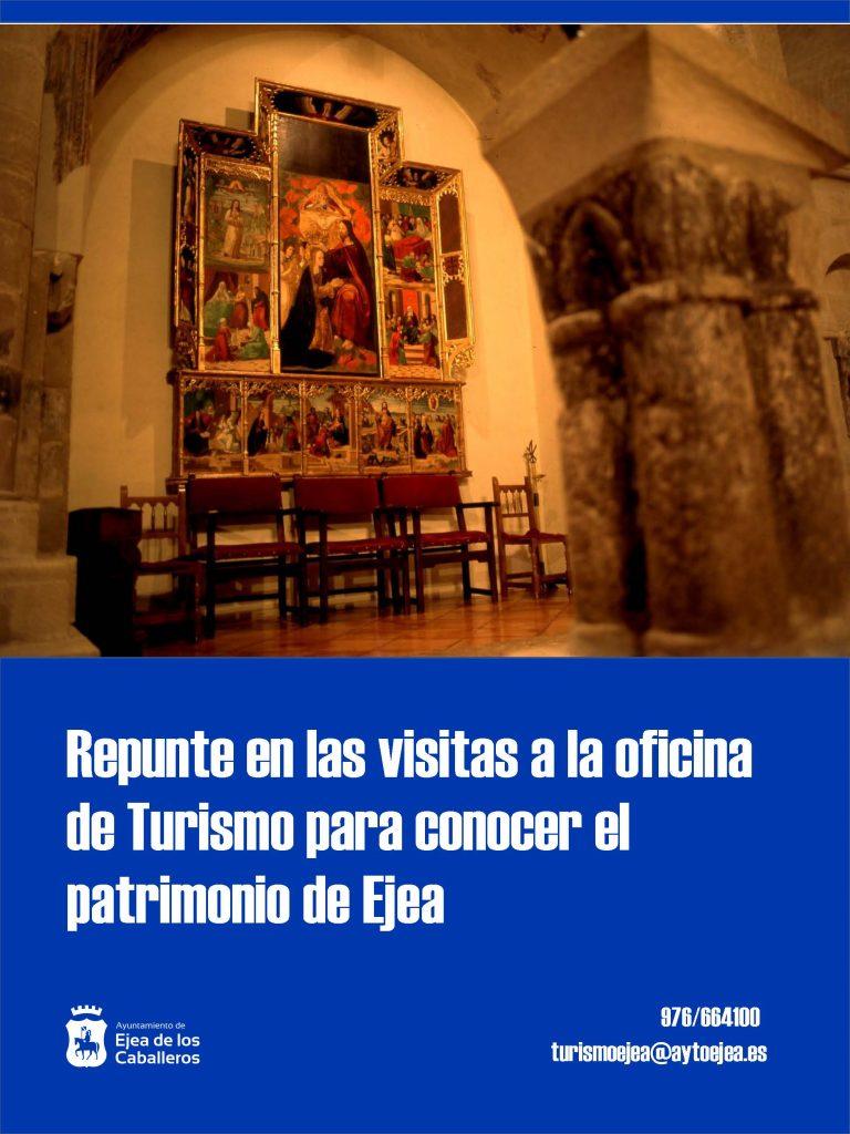 La Oficina de Turismo de Ejea recibió en 2019 a 4.493 visitantes