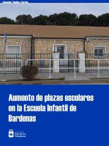 El aula de la escuela infantil de Bardenas aumenta en 10 plazas