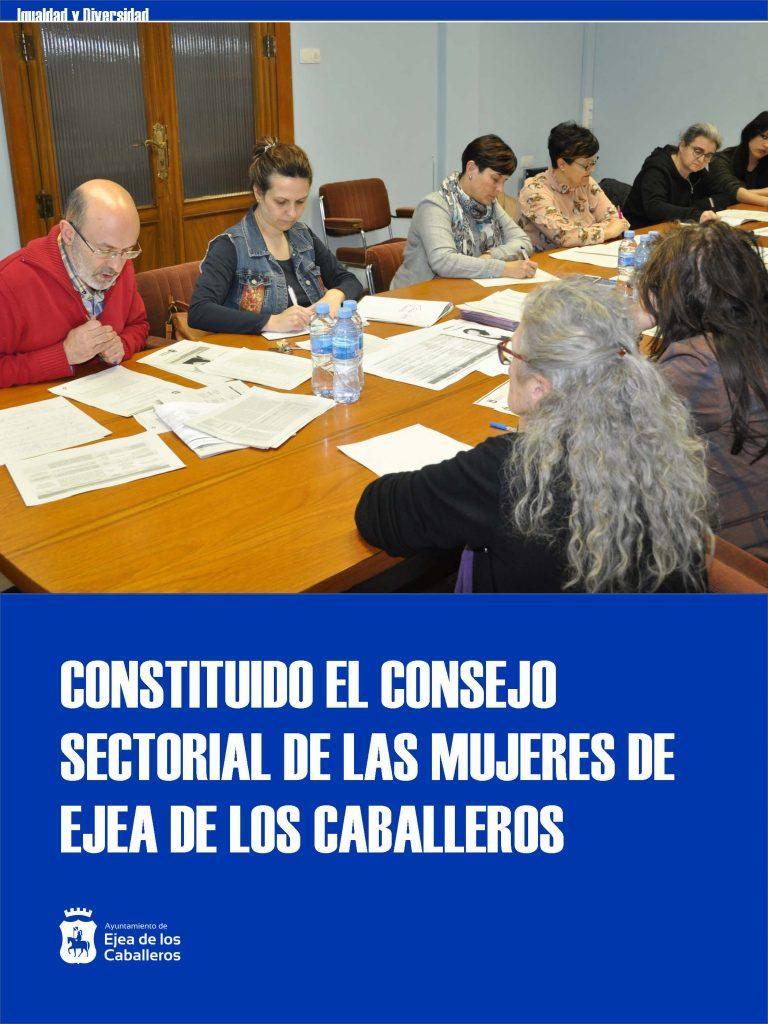 Se constituye el Consejo Sectorial de las Mujeres de Ejea de los Caballeros