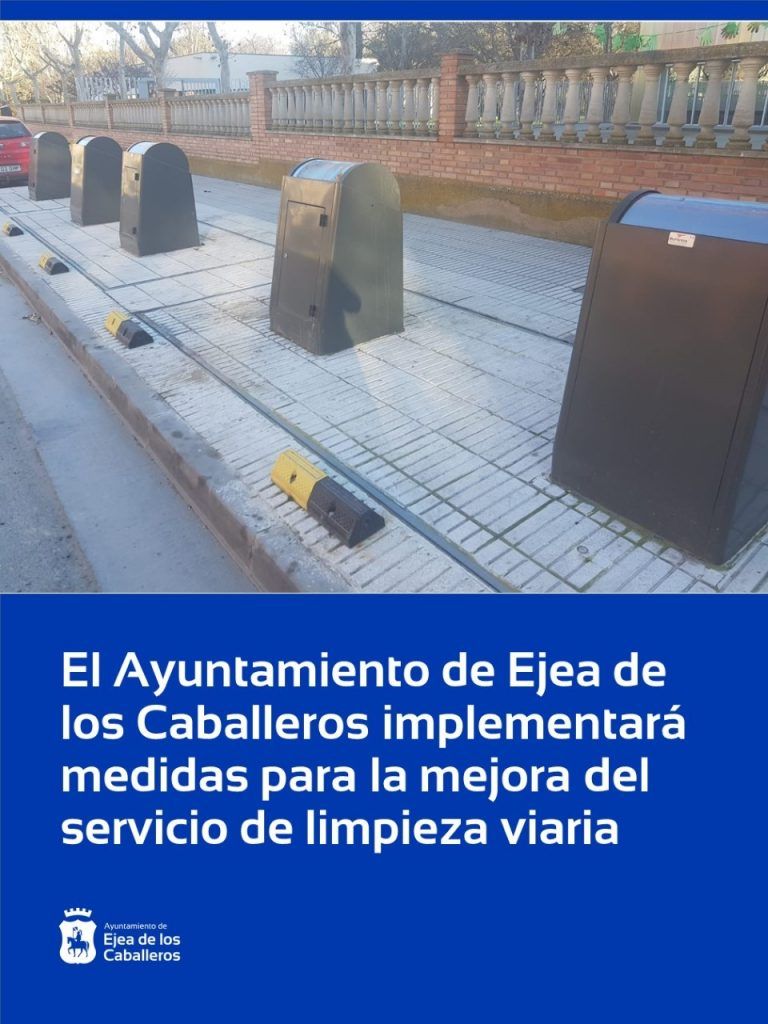 El Ayuntamiento de Ejea de los Caballeros implementará medidas para la mejora del servicio de limpieza viaria