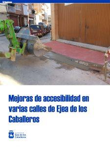 Rehabilitación de varias calles del municipio de Ejea de los Caballeros para mejorar su accesibilidad