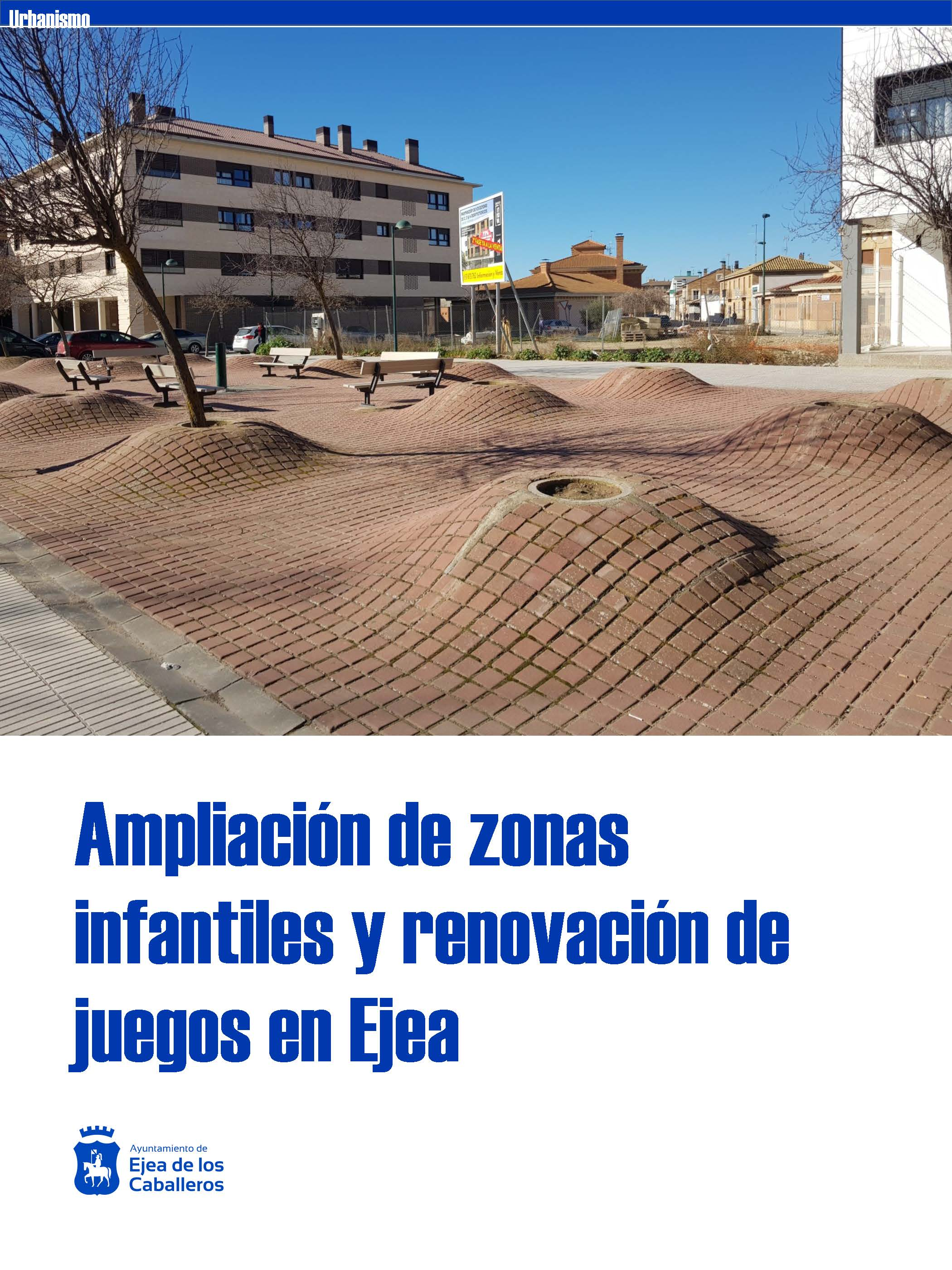 Ampliación de zonas infantiles y renovación de juegos en Ejea de los Caballeros