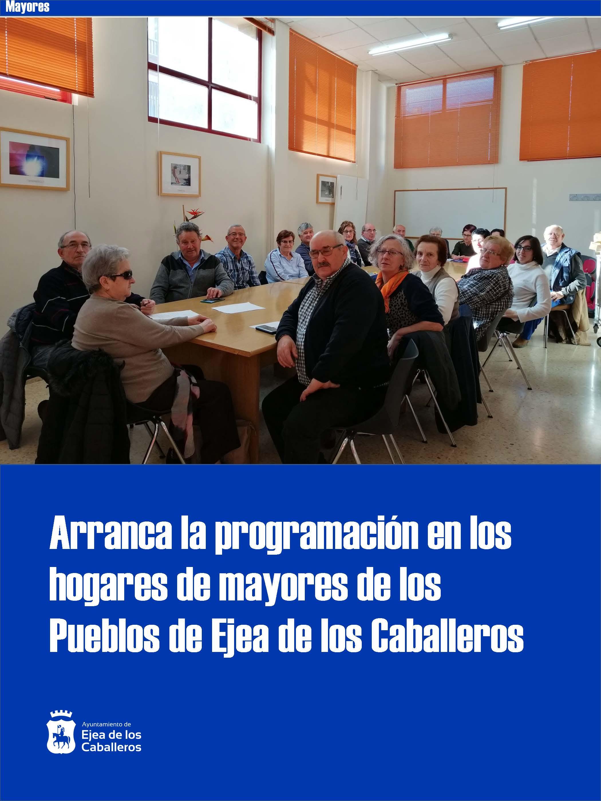 En marcha el programa de actividades para mayores en los Pueblos de Ejea de los Caballeros