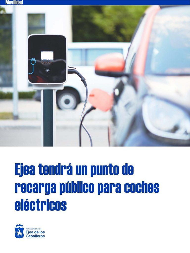 El Ayuntamiento de Ejea habilita un punto de recarga público para vehículos eléctricos