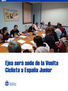 Ejea de los Caballeros ha sido elegida sede de la Vuelta Ciclista a España Junior 2020