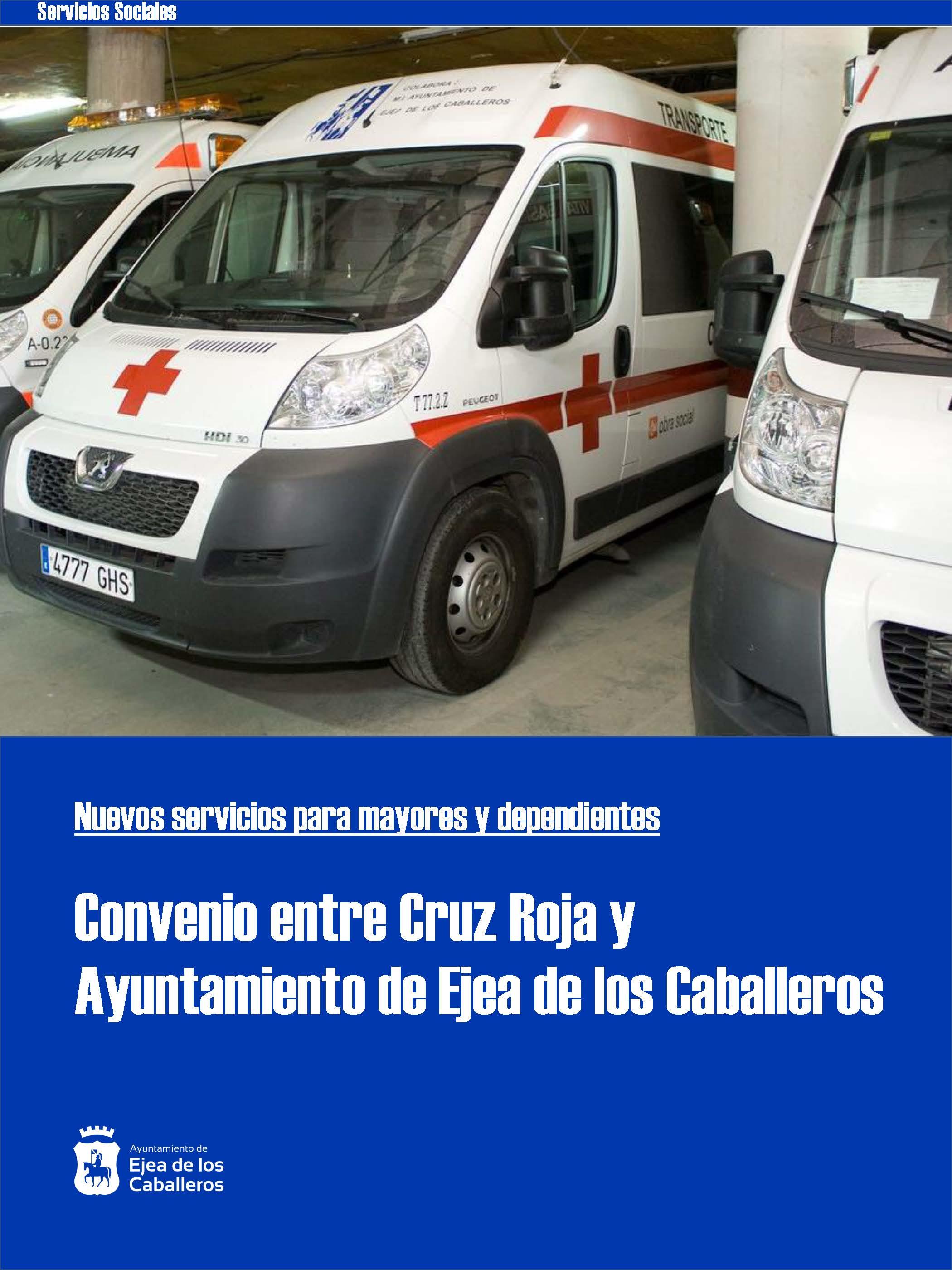 Se incorporan nuevos servicios para mayores y dependientes gracias al convenio suscrito entre Ayuntamiento de Ejea de los Caballeros y Cruz Roja
